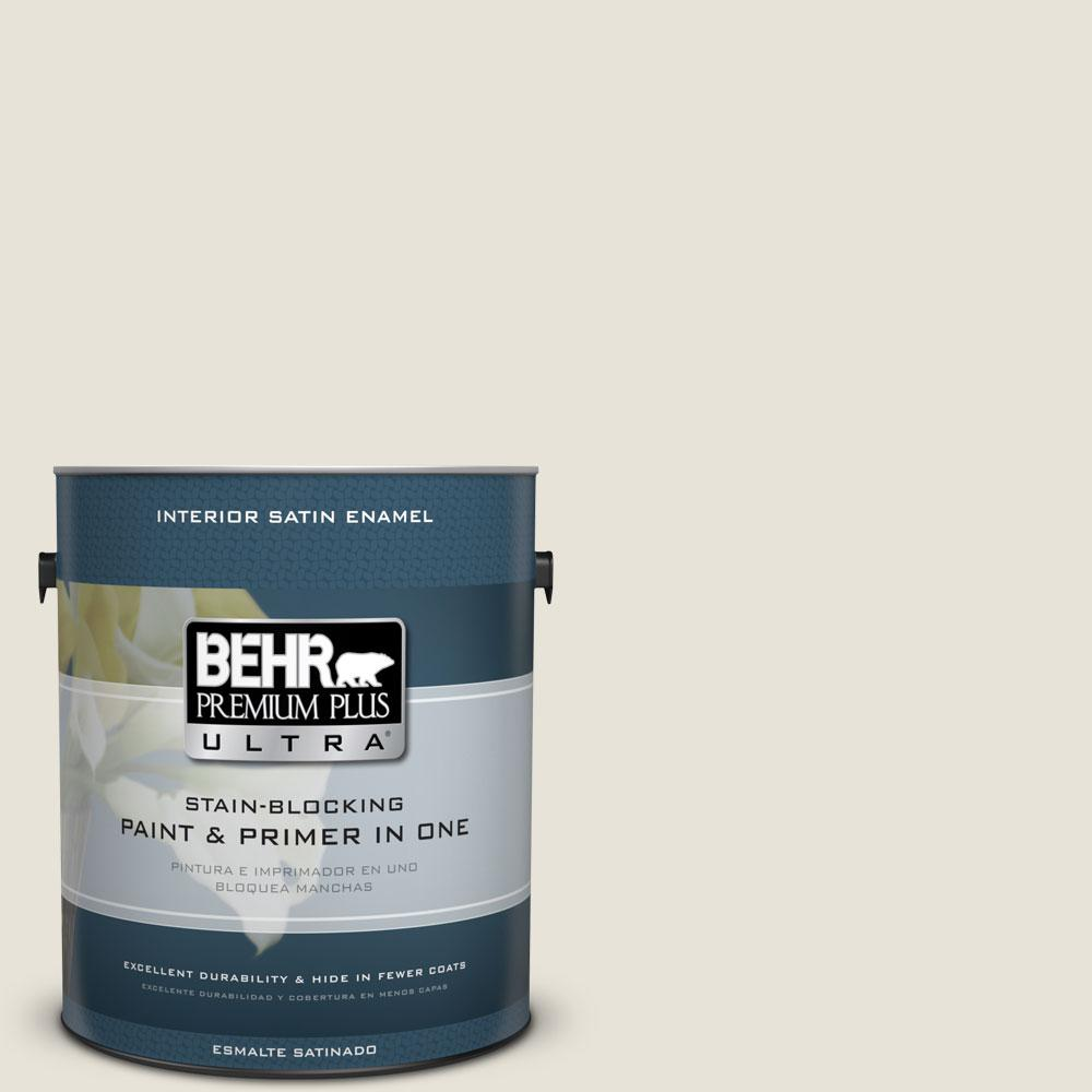 BEHR Premium Plus Ultra 1-gal. #PWN-60 French Chateau Satin Enamel Interior Paint