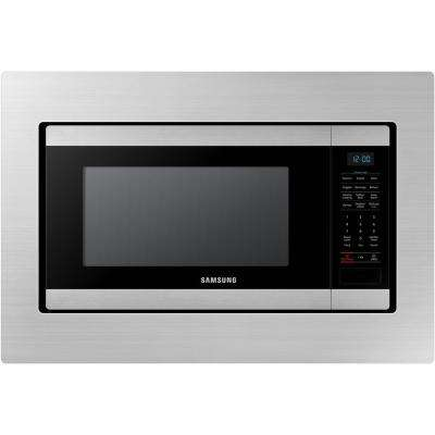 29.8 in. Trim Kit for Samsung MS19M8000AS Countertop Microwave - Stainless Steel (1-Pack)