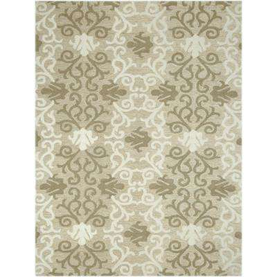 Pizazz Camel 4 ft. x 6 ft. Rectangle Area Rug