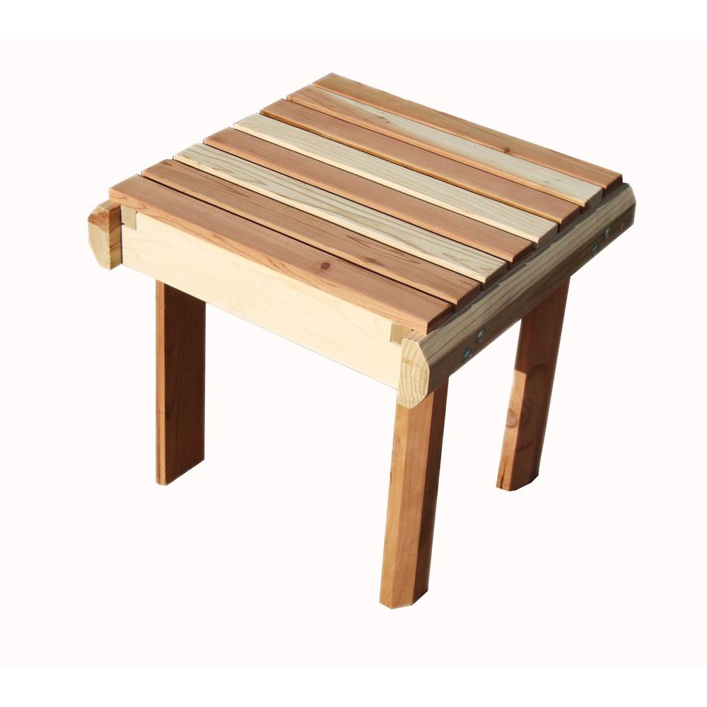 Best Redwood Beach Clear No Stain Redwood Outdoor Side Table
