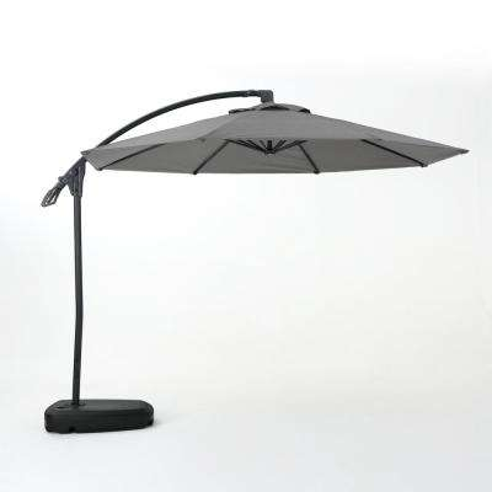 9 71 Ft Aluminum Cantilever Tilt Patio Umbrella In Gray