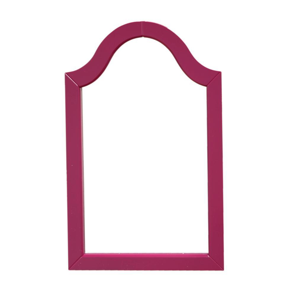 W Purple Wood Framed Wall Mirror