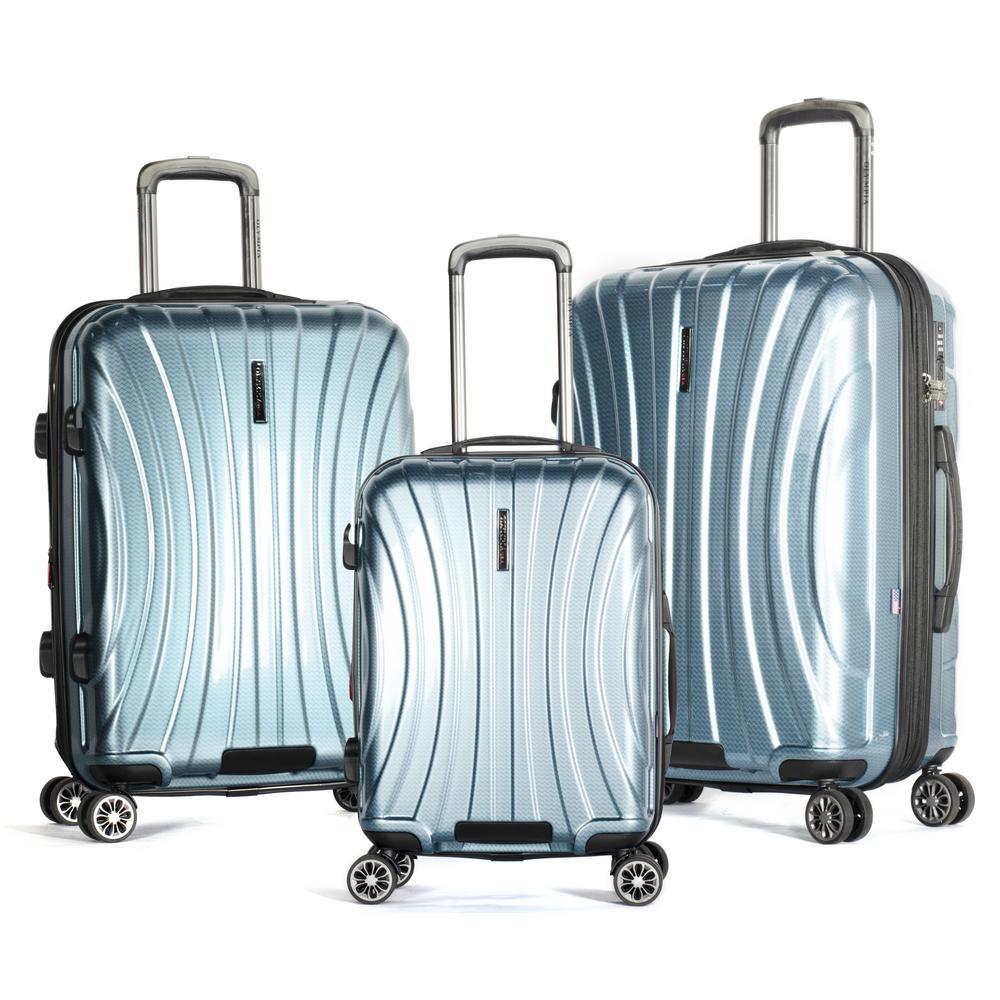 Phoenix 3-Piece Expandable Blue Hardcase Spinner Set