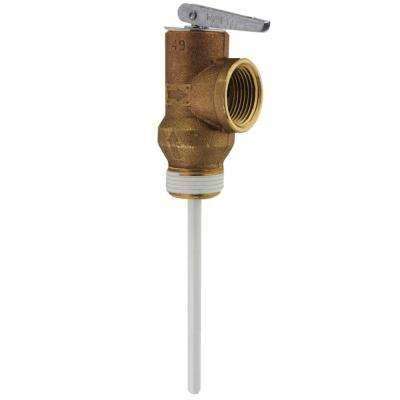 3 1/4 in  Standard Shank Water Heater Temperature and Pressure Relief Valve