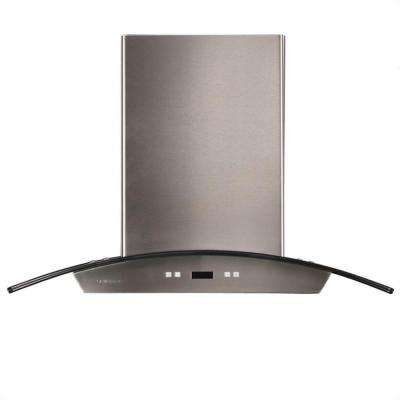 30 in. Island Chimney Range Hood in Stainless Steel