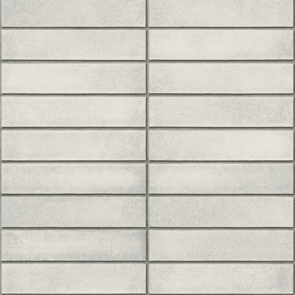 Perkins Light Grey Modern Brick Wallpaper Sample