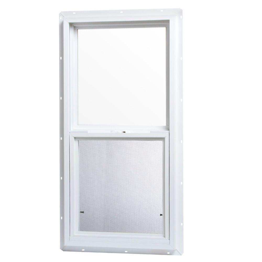 18 in. x 36 in. Single Hung Vinyl Window - White