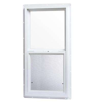 18 in. x 36 in. Single Hung Vinyl Window - White