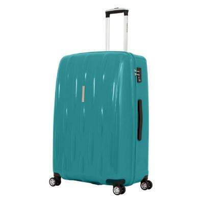 28 in. Upright Hardside Spinner Suitcase in Teal