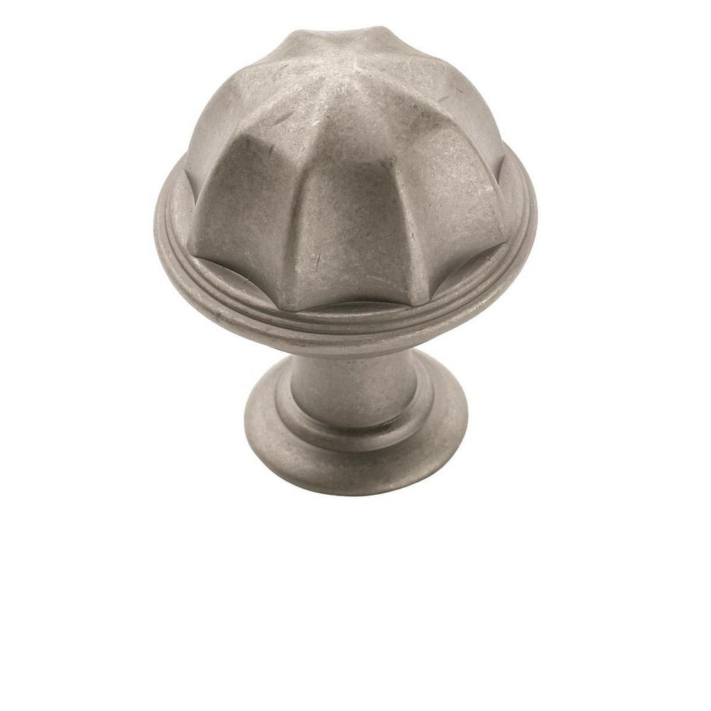 Amerock Eydon 1 in (25 mm) Diameter Weathered Nickel Cabinet Knob