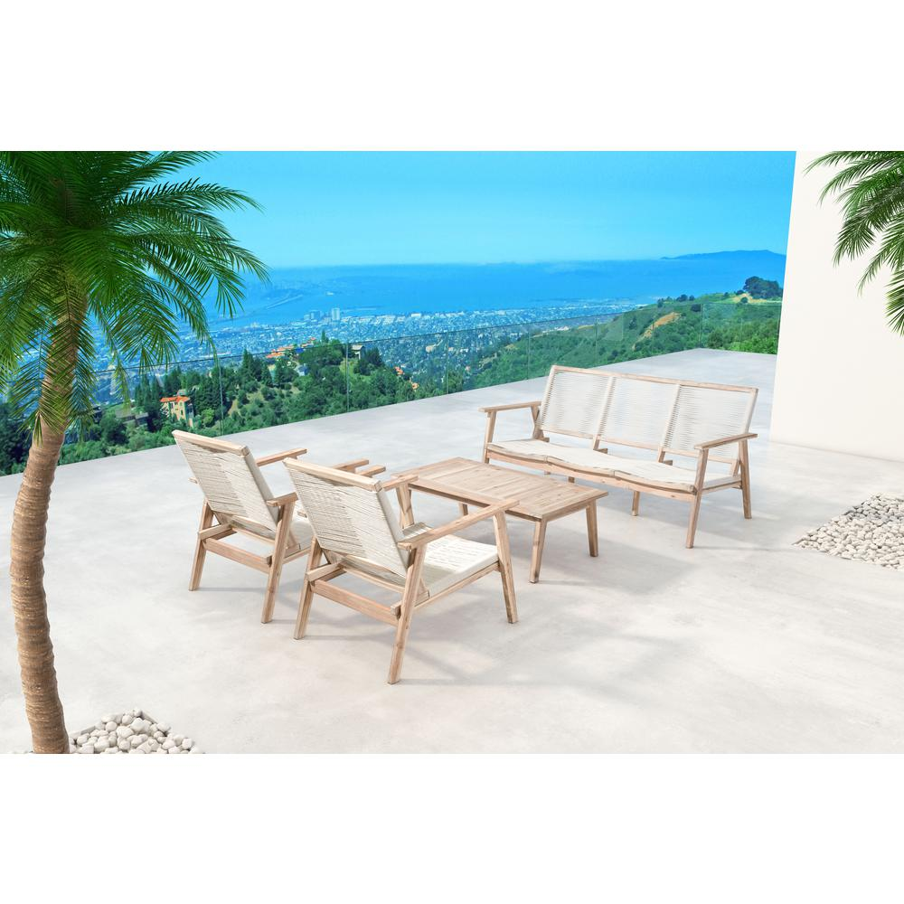 Zuo Modern South Port Wood Outdoor Sofa