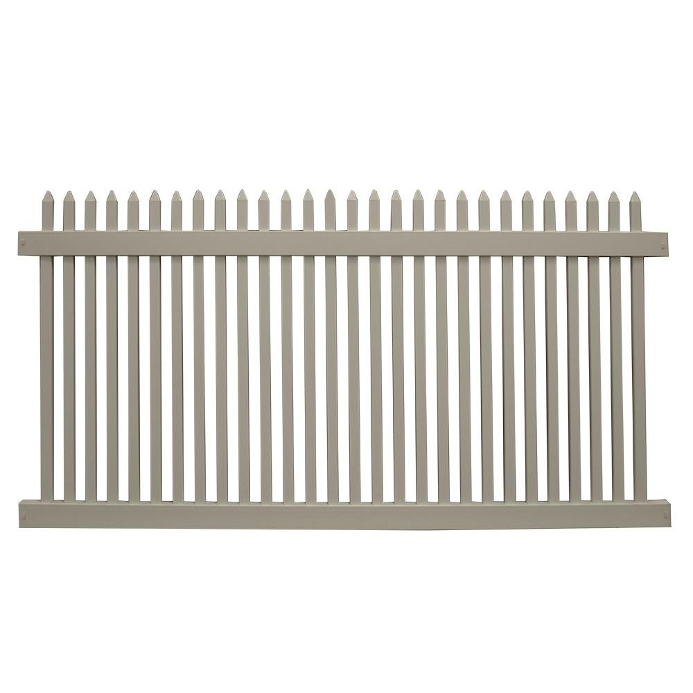 Hartford 5 ft. H x 6 ft. W Khaki Vinyl Picket