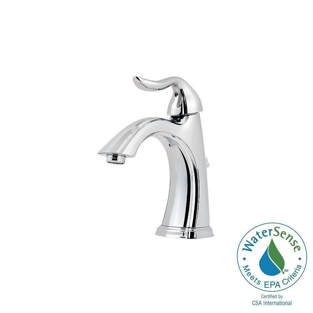 Pfister Santiago 4 in. Centerset Single-Handle Bathroom Faucet in Polished Chrome