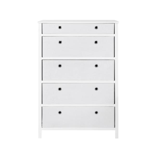 Achim EZ Home Solutions 5-Drawer White Foldable Tall Dresser FFR105WH01