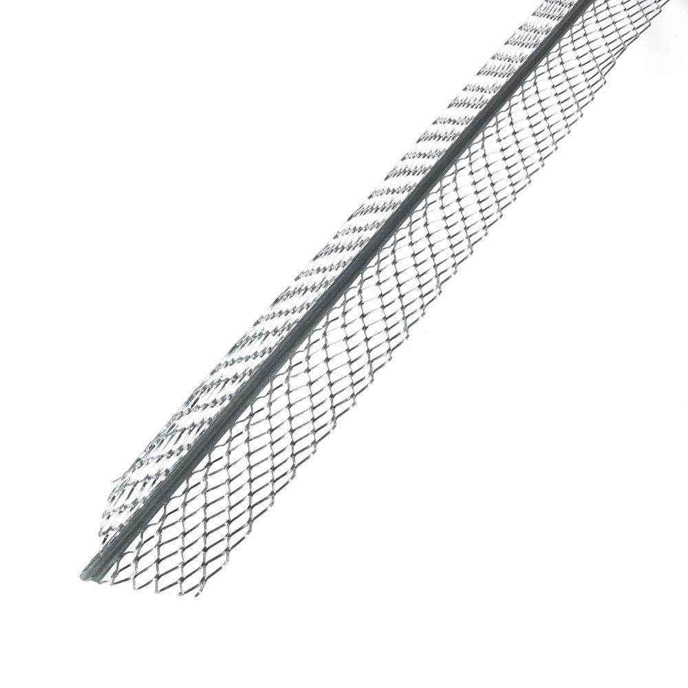 No.1-A 2.625 in. x 8 ft. Galvanized Steel Expanded Flange Corner