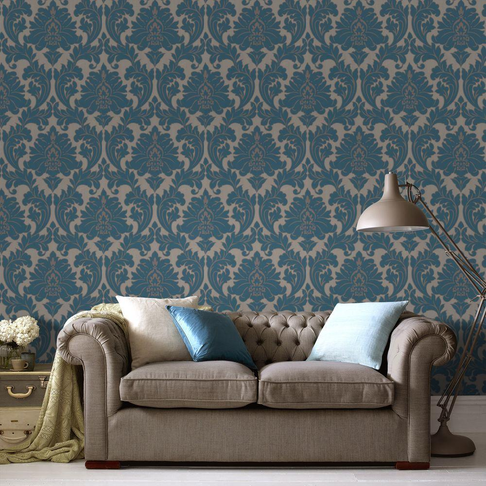 Graham U0026 Brown Majestic Teal Removable Wallpaper Part 66