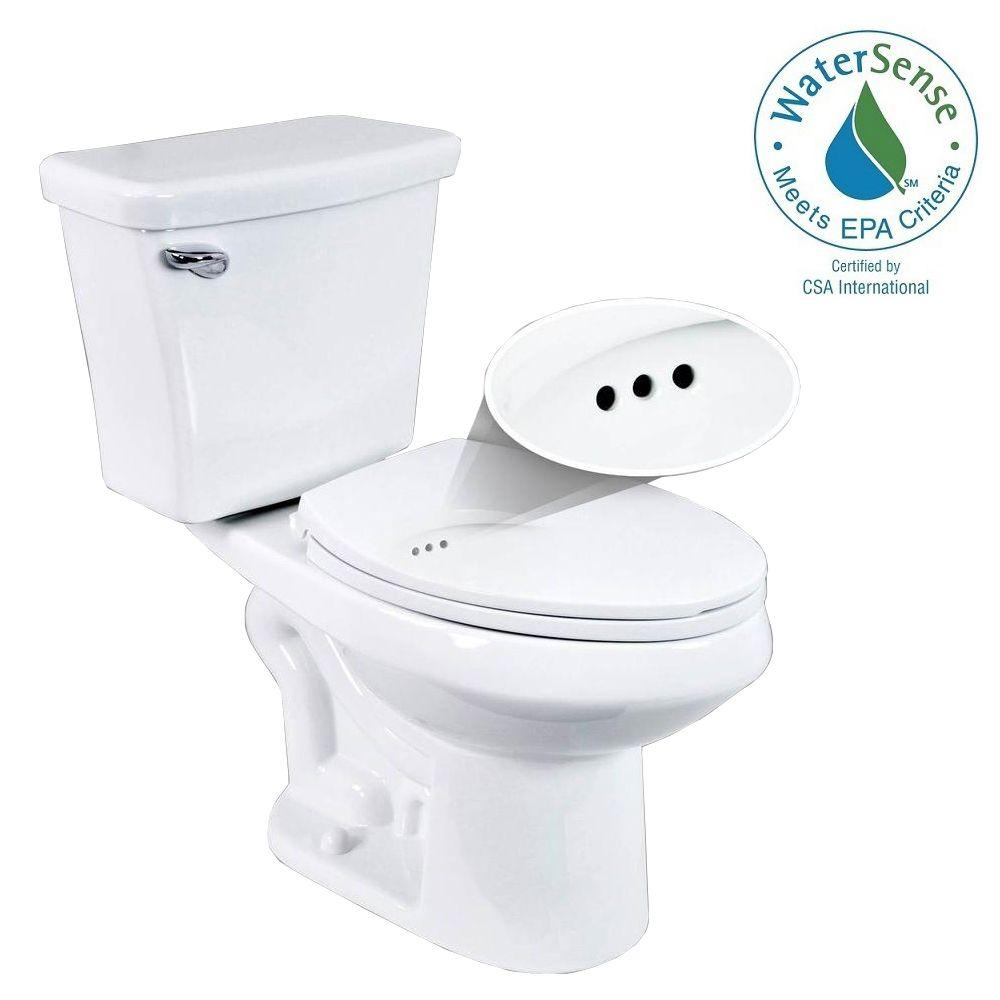 Penguin Toilets 2-piece 1.28 GPF Single Flush Elongated Toilet with ...
