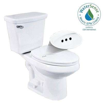 2-piece 1.28 GPF Single Flush Elongated Toilet with Overflow Protection in White