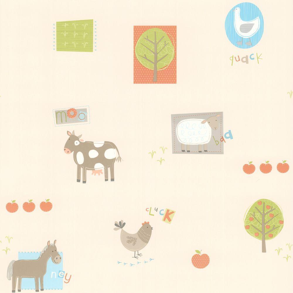 Kids World Fairy Tea Time Purple Patchwork Wallpaper Sample
