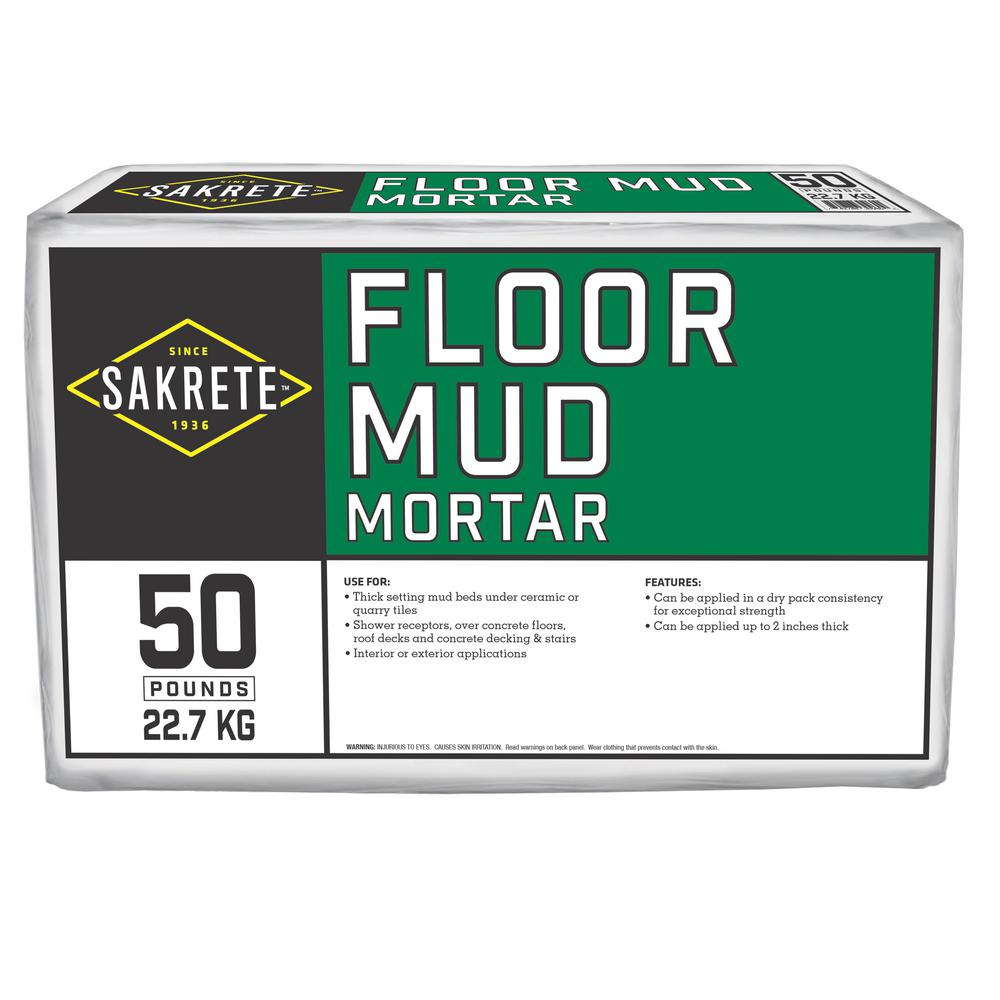 Sakrete 50 Lb Floor Mud Mortar 65467002 The Home Depot