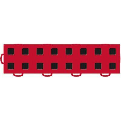 TechFloor 3 in. x 12 in. Red/Black Vinyl Flooring Tiles (Left Loop) (Quantity of 10)