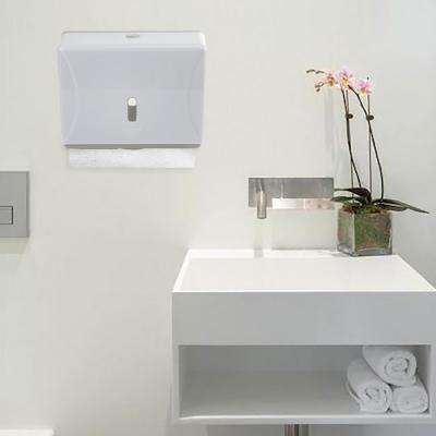 Wall Mount Multi-Fold Paper Towel Dispenser in White