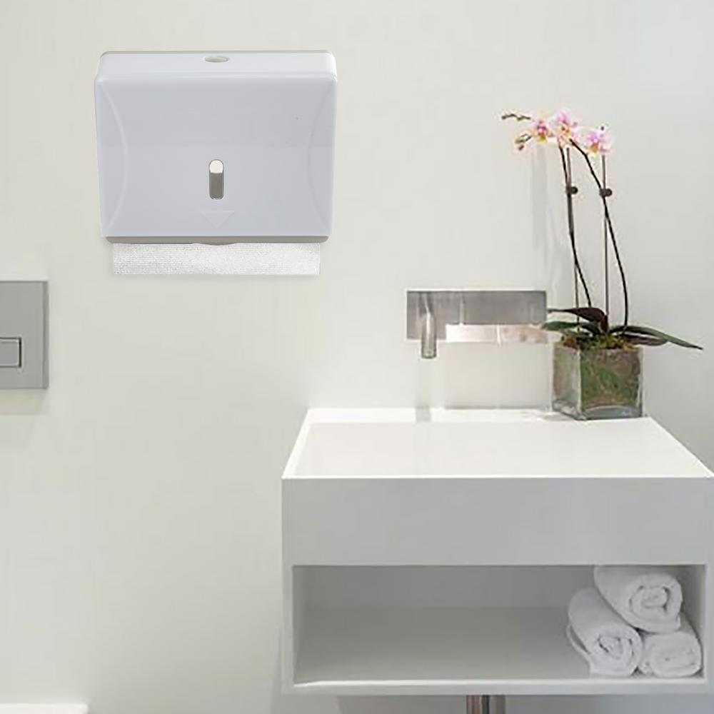 Mind Reader Wall Mount Multi-Fold Paper Towel Dispenser in White ...