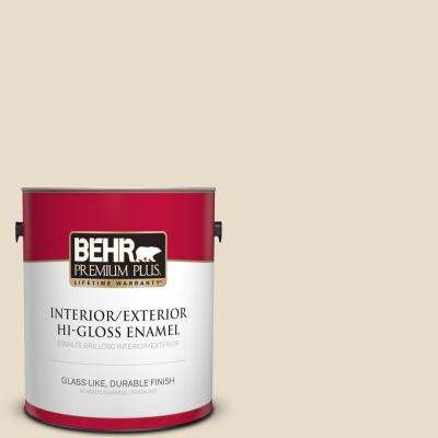 1 gal. #YL-W12 Antique White Hi-Gloss Enamel Interior/Exterior Paint and Primer in One