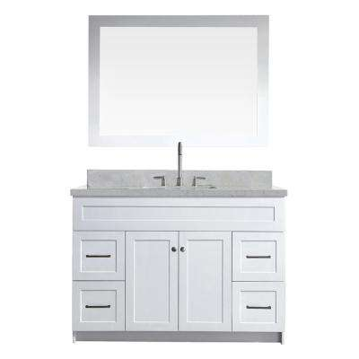 Vanity in White with Quartz Vanity Top in White with White Basin. 48 Inch Vanities   Bathroom Vanities   Bath   The Home Depot