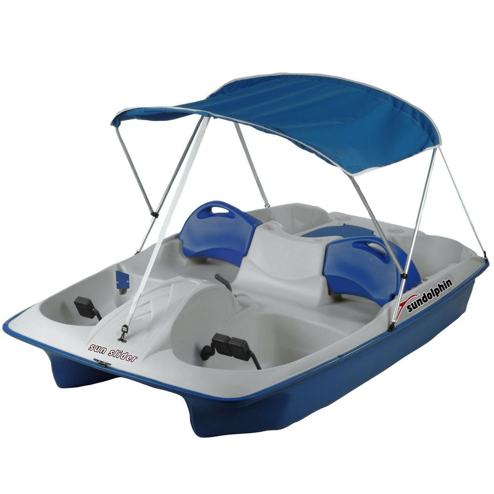 K.L. Industries Sun Slider 5-Person Pedal Boat with Canopy