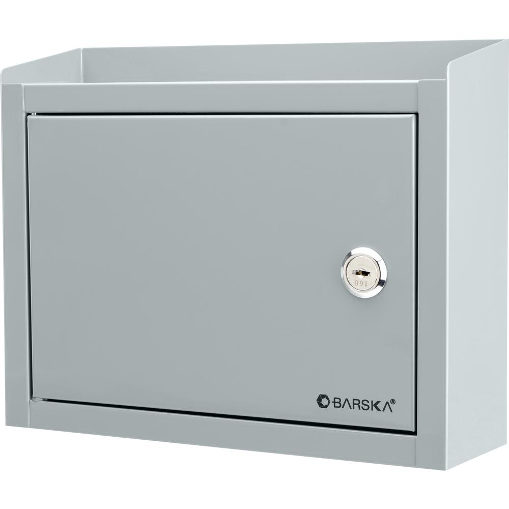 0.13 cu. ft. Steel Multi-Purpose Safe Drop Box, Gray