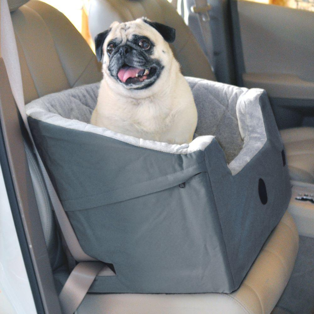 k h pet products bucket booster large gray pet car seat 7632 the home depot. Black Bedroom Furniture Sets. Home Design Ideas