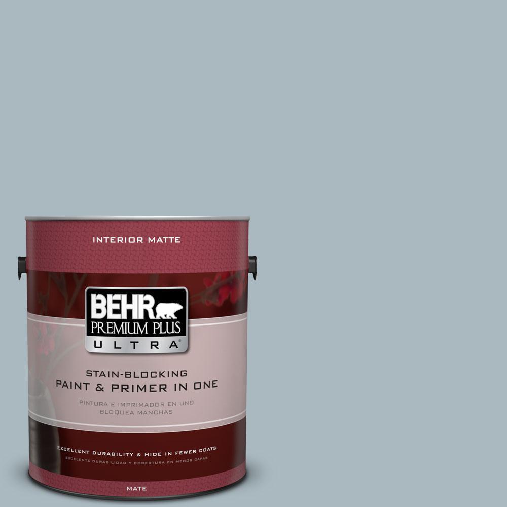 BEHR Premium Plus Ultra 1 gal. #740E-3 Prelude Flat/Matte Interior Paint