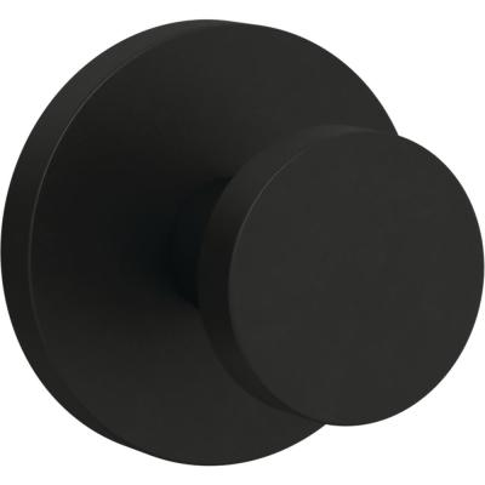 Modern Round 2.75 in. Flat Black Post Hook