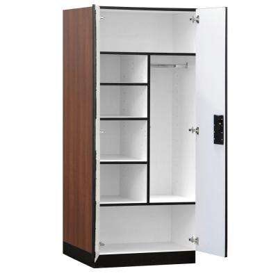 32 in. W x 76 in. H x 24 in. D Combination Wood Designer Storage Cabinet Assembled in Mahogany