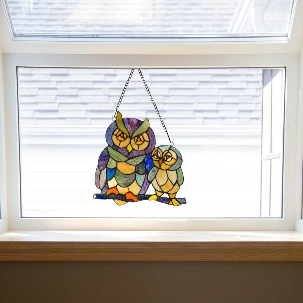 River Of Goods Multi-Colored Stained Glass Friendly Owls ...