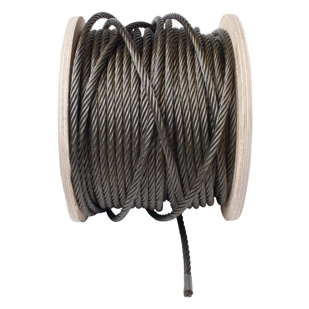 Crown Bolt 3/8 in. x 1 ft. Bright Fiber Core Wire Rope-66686 - The ...