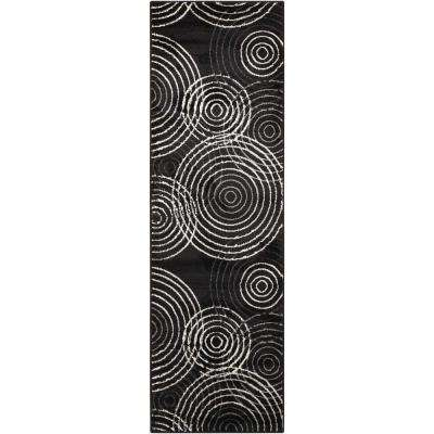 Studio Black 2 ft. x 7 ft. Runner Rug