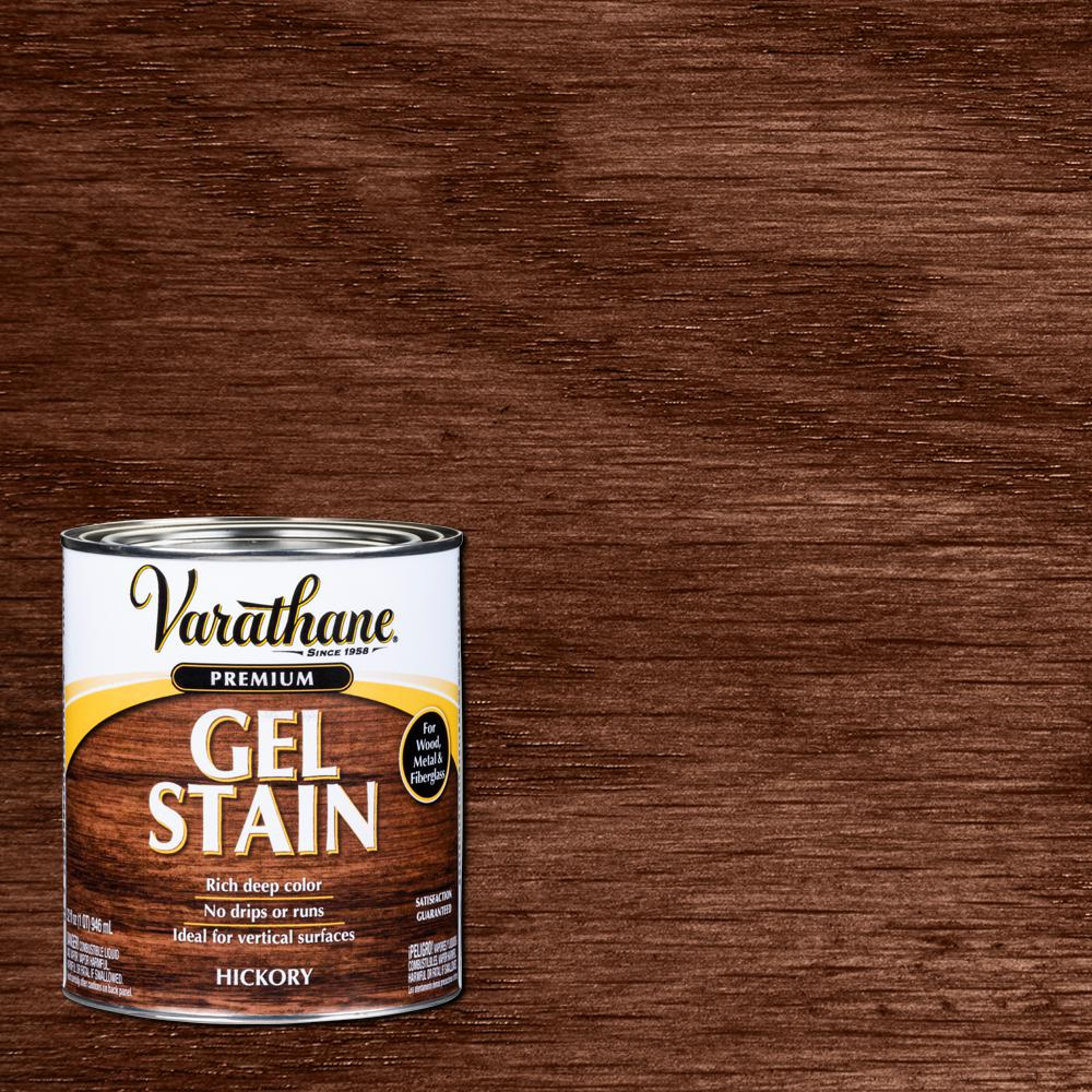 Varathane 1 Qt Hickory Wood Interior Gel Stain 339587 The Home Depot