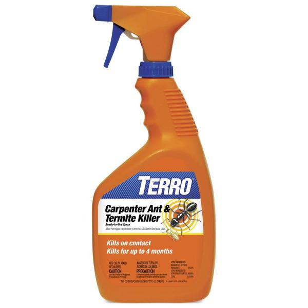 Terro 32 Oz Ready To Use Carpenter Ant And Termite Killer Spray T1100 6 The Home Depot