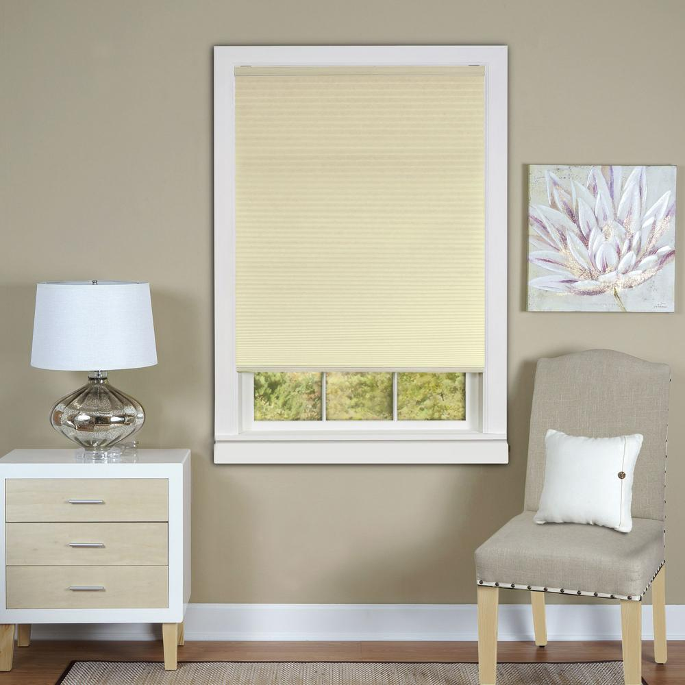 Perfect Lift Window Treatment Linen White Cordless Blackout Cellular Shade 29 In W X 64 In L