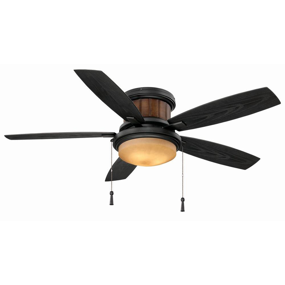 Hampton Bay Roanoke 48 in. Indoor/Outdoor Iron Ceiling Fan with Light Kit