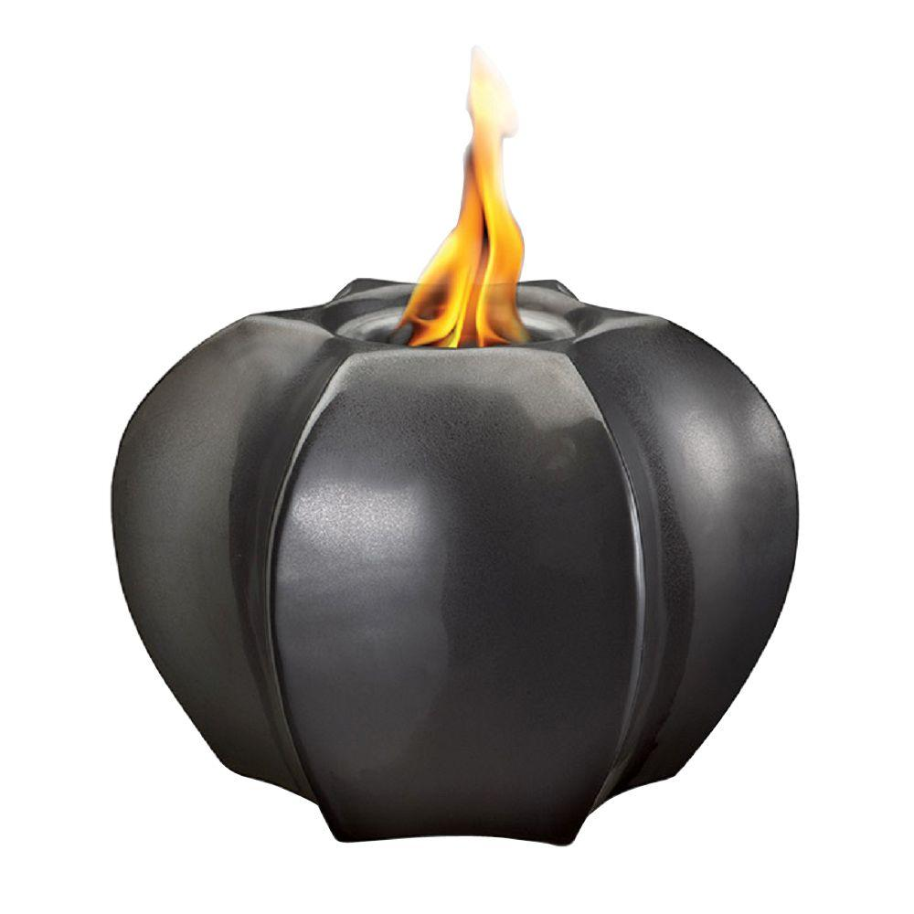 Pacific Decor Hex Shape Fire Pot in Metallic Black-DISCONTINUED