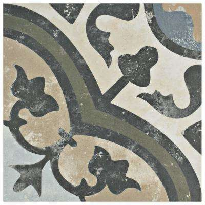 Evoque Carthusian Encaustic 9-3/4 in. x 9-3/4 in. Porcelain Floor and Wall Tile (10.76 sq. ft. / case)