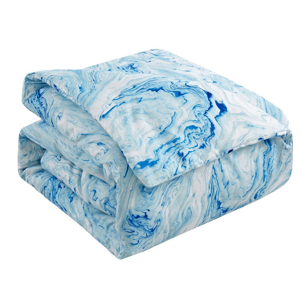 Carrera 7-Piece Blue Geometric Queen Comforter Set