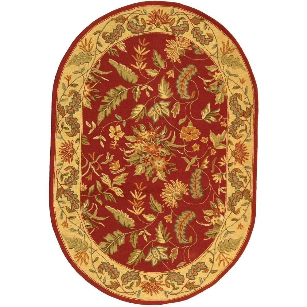 Safavieh Chelsea Red 7 ft. 6 in. x 9 ft. 6 in. Oval Area Rug