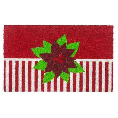 Holiday Greetings Coir 28 in. x 17 in. Door Mat with Backing