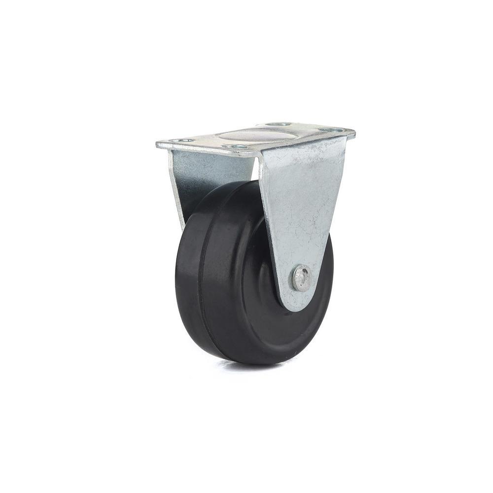 1-9/16 in. 20 kg General-Duty Rubber Rigid Casters