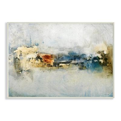 "12.5 in. x 18.5 in. ""Distressed Neutrals Abstract Painting "" by Michel Keck Wood Wall Art"