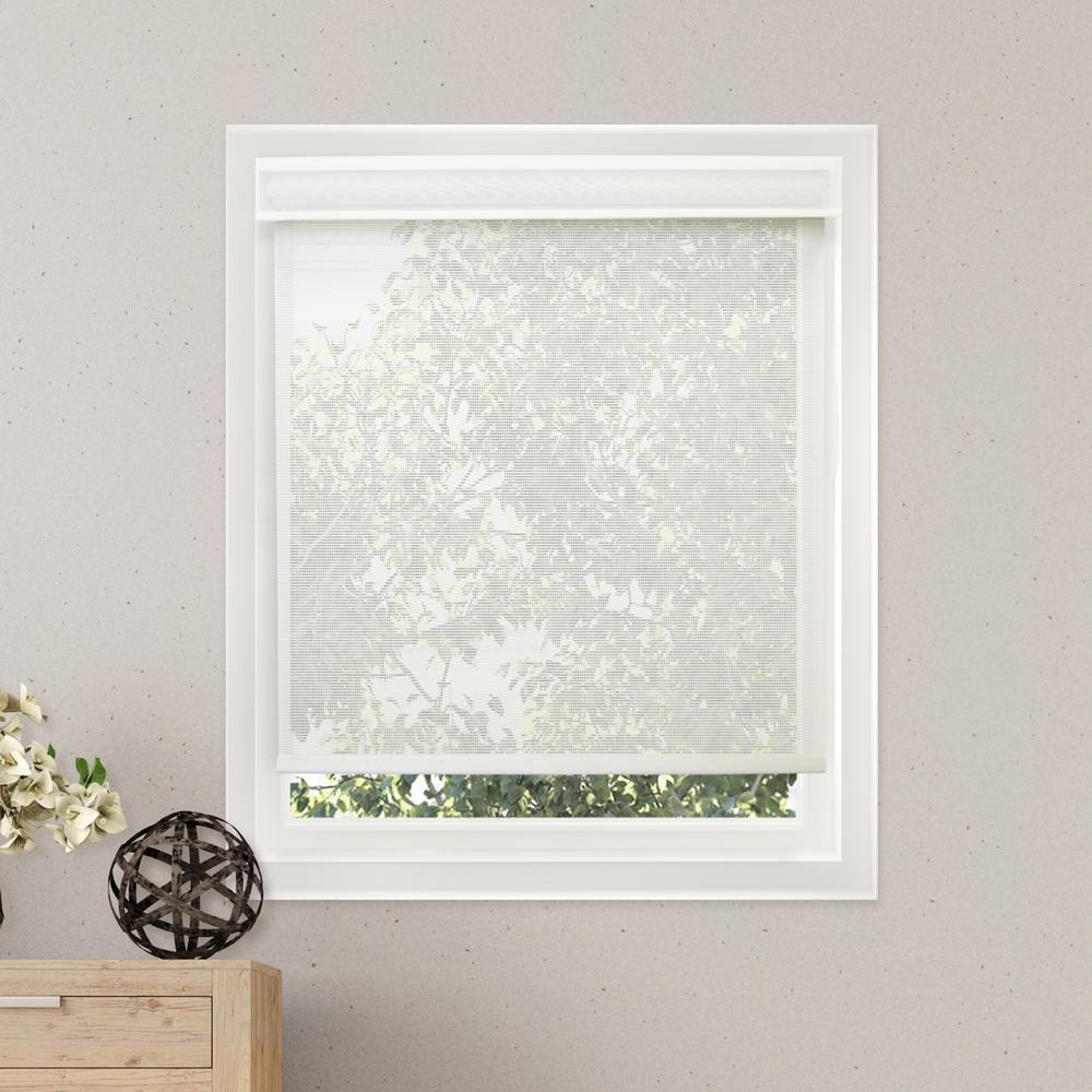 Chicology Deluxe Corldess Cloud White Light Filtering Light Filtering Best for Kids Polyester Roller Shade